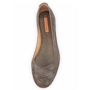 Frye Company Ember Cross Leather Ballet Flat
